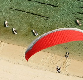 paragliding from above