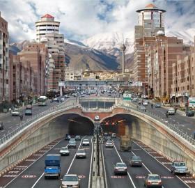 street level of tehran, iran