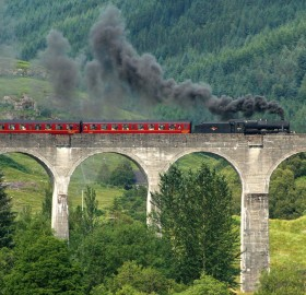 the harry potter train, scotland
