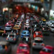 traffic in tilt shift