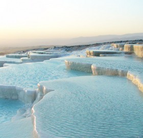 pamukkale, aka cotton castle, turkey