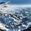 amazing alpes from airplane