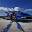 awesome blue corvette z06