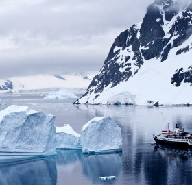 cruising antarctica ice landscape