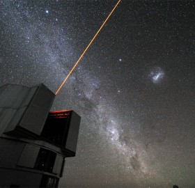 laser beam from large telescope