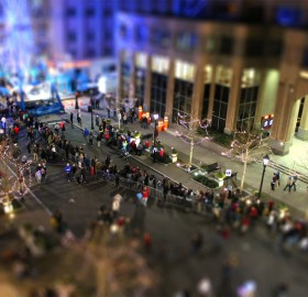 new year`s eve tilt shift