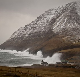 stormy day at faroe islands