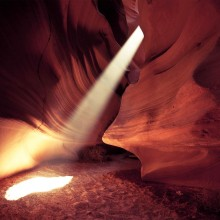 canyon beam of light