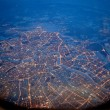 flying over st petersburg, russia
