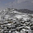 snow over town of murree, pakistan