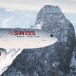 swiss airbus over alpes