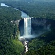 the world`s largest drop water fall, kaieteur falls