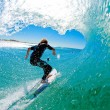surfing at south stradbroke island