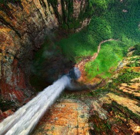 dragon falls from above