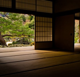 the inside of a temple in kyoto, japan