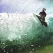 surfer exit wave