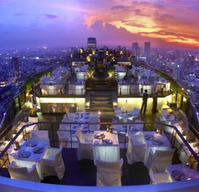 view from the restaurant, bangkok