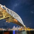 harbour bridge under the stars