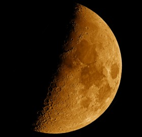 moon as slice of cheese
