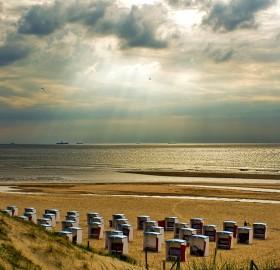 katwijk aan zee beach, holland
