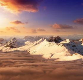 Stunning Mountain Scenery of Swiss Alps
