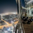 view from burj khalifa at night