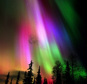 colorful aurora borealis over finland