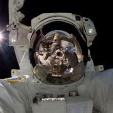 japanese astronaut self-portrait