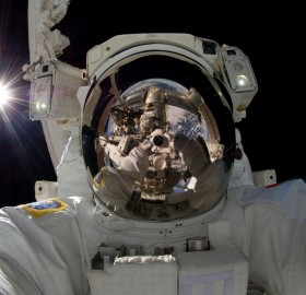 japanese astronaut self-portrait