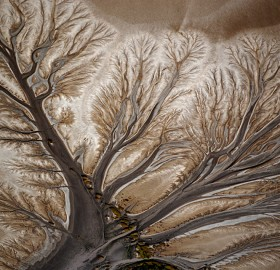 art made by nature, dried up river delta
