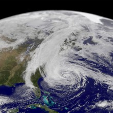 sandy, largest hurricane in atlantic history