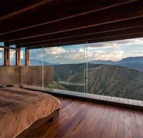 bedroom with a valley view