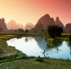 fishing on the li river, china