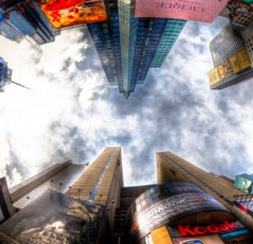 times square from the center, nyc