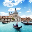 blue grand canal and basilica, venice