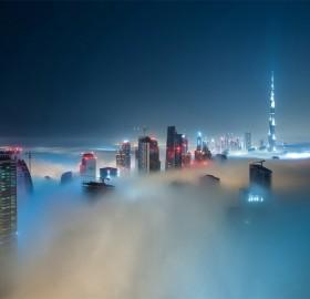 cloud scape of dubai