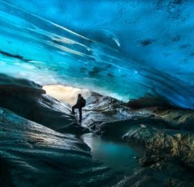 patagonian glacier ice cave