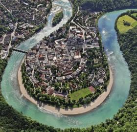 wasserburg am inn from above, germany