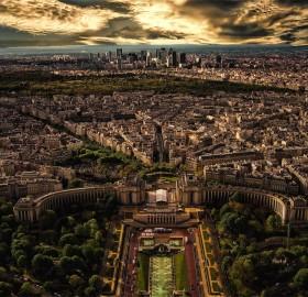 paris, seen from eiffel tower