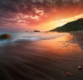 spectacular cyprus sunset