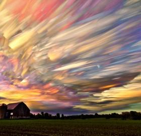 stunning smeared sky