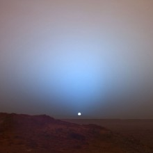 sunset taken from mars