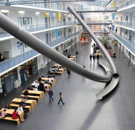 why use the stairs? university in munich, germany