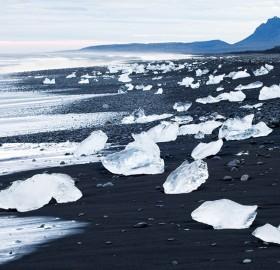 black sand beach, iceland