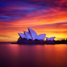 breathtaking sunset in sydney