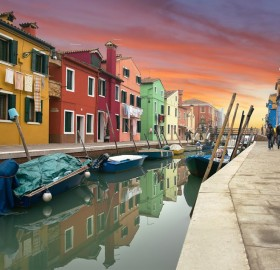 colorful murano island, italy