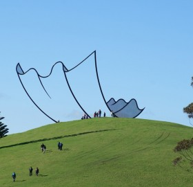 sculpture that looks like a cartoon, new zealand