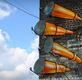 antenna telescopes street art