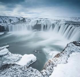 godafoss, waterfall of the gods, iceland