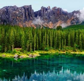karersee lake, germany